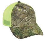 CNM-100M camo/neon yellow mesh back, velcro closure